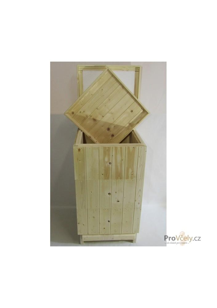 2cm sestava 2x nástavek 39x27,5, dno varroa, vnitřní palubkové zateplené víko