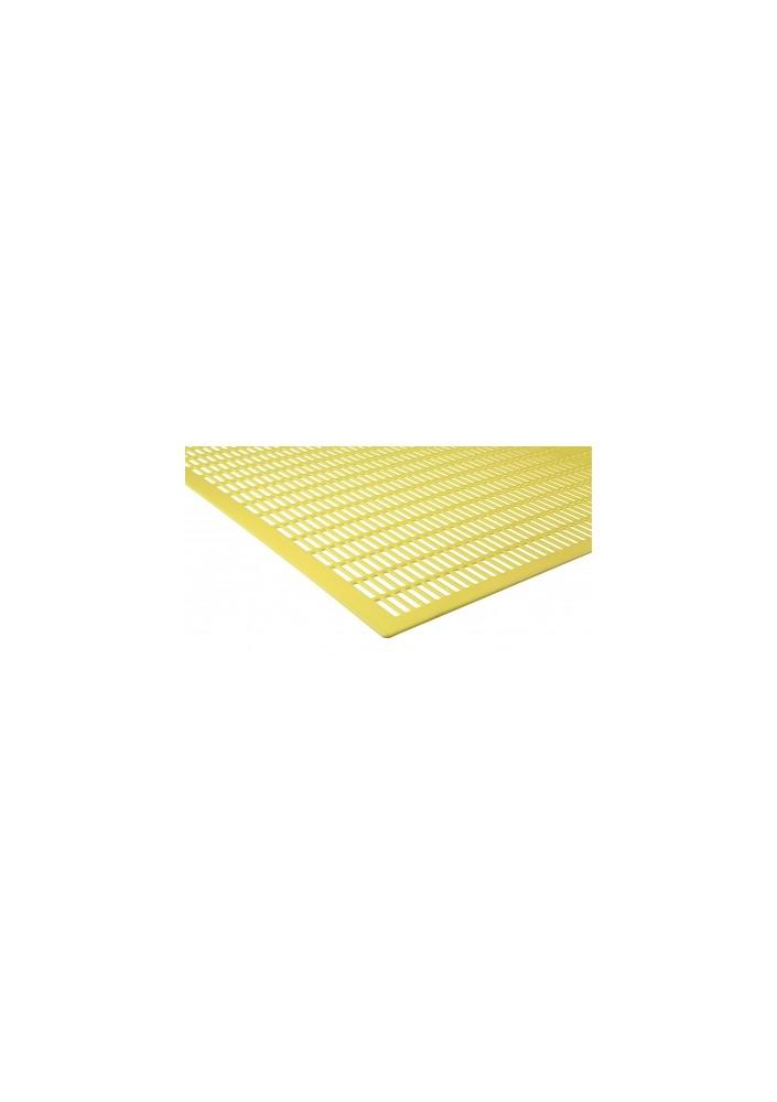 Mateří mřížka žlutá litá 435x435 plast