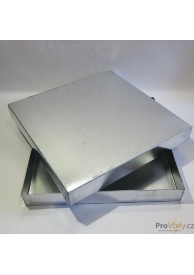 Víko venkovní plechové pozinkované pro úl 39x zateplený 3cm